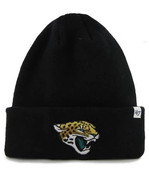 Jacksonville Jaguars Raised Cuff Knit Black 47 Brand Hat
