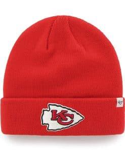 Kansas City Chiefs Raised Cuff Knit Torch Red 47 Brand Hat