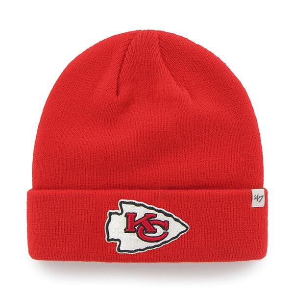 c9b093d7b Kansas City Chiefs Raised Cuff Knit Torch Red 47 Brand Hat - Detroit Game  Gear