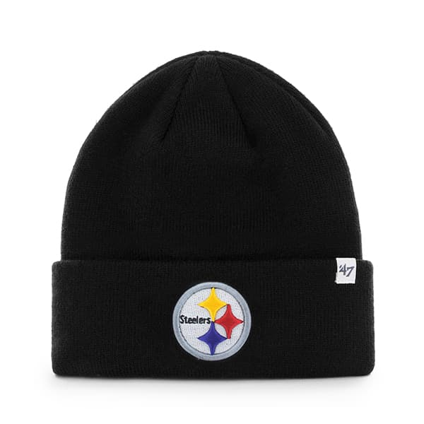 Pittsburgh Steelers Raised Cuff Knit Black 47 Brand Hat