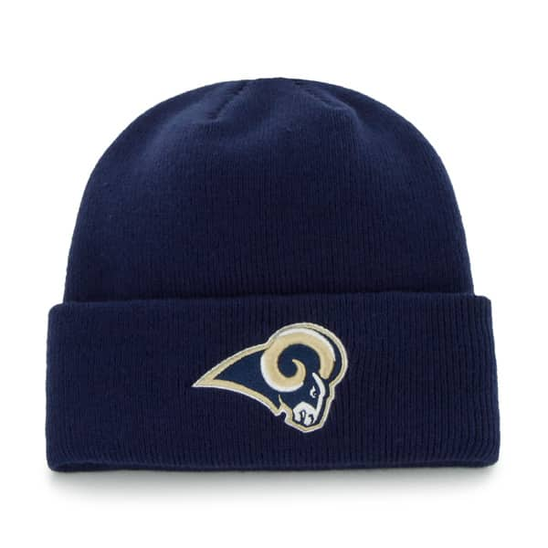 Los Angeles Rams Raised Cuff Knit Light Navy 47 Brand Hat