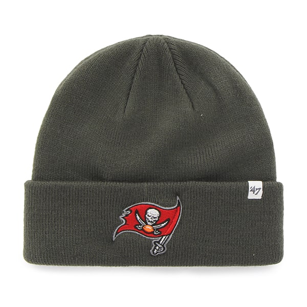Tampa Bay Buccaneers Raised Cuff Knit Graphite 47 Brand Hat