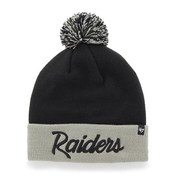 Oakland Raiders Script Two Tone Cuff Knit Black 47 Brand Hat