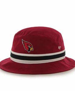 Arizona Cardinals Striped Bucket Bright Dark Red 47 Brand Hat