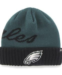 Philadelphia Eagles Sneakscript Cuff Knit Pacific Green 47 Brand Hat