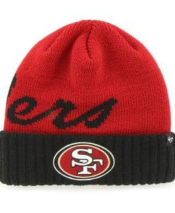 San Francisco 49Ers Sneakscript Cuff Knit Red 47 Brand Hat