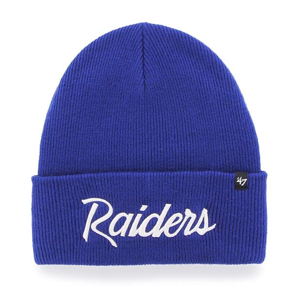 Oakland Raiders Super Script Cuff Knit Royal 47 Brand Hat