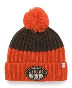 Cleveland Browns 47 Brand Brown Founder Cuff Knit Hat 8172f1ecd
