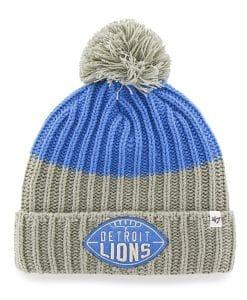 Detroit Lions Founder Cuff Knit Blue Raz 47 Brand Hat