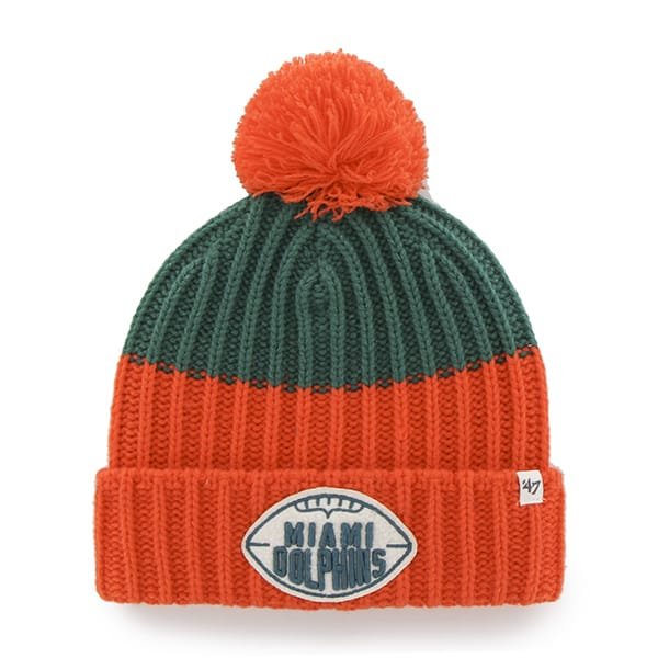 Miami Dolphins Founder Cuff Knit Tailgate Teal 47 Brand Hat