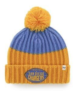 San Diego Chargers Founder Cuff Knit Blue Raz 47 Brand Hat