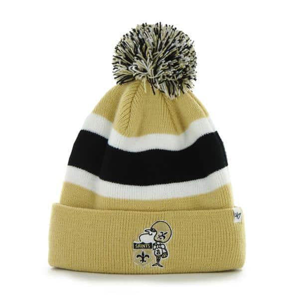 New Orleans Saints Breakaway Cuff Knit Light Gold 47 Brand Hat
