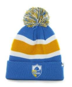 San Diego Chargers Breakaway Cuff Knit Blue Raz 47 Brand Hat