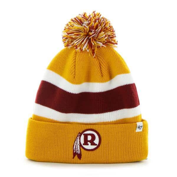 Washington Redskins Breakaway Cuff Knit Gold 47 Brand Hat