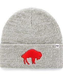 Buffalo Bills Brain Freeze Cuff Knit Gray 47 Brand Hat