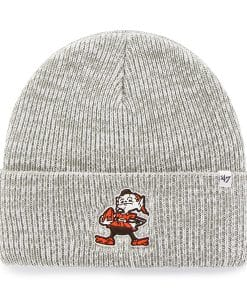 Cleveland Browns Brain Freeze Cuff Knit Gray 47 Brand Hat