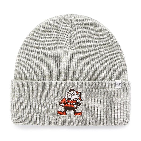 Cleveland Browns Brain Freeze Cuff Knit Gray 47 Brand Hat