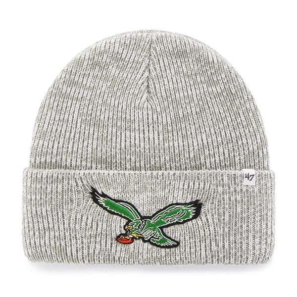 timeless design 7f029 01dcc Philadelphia Eagles Brain Freeze Cuff Knit Gray 47 Brand Hat