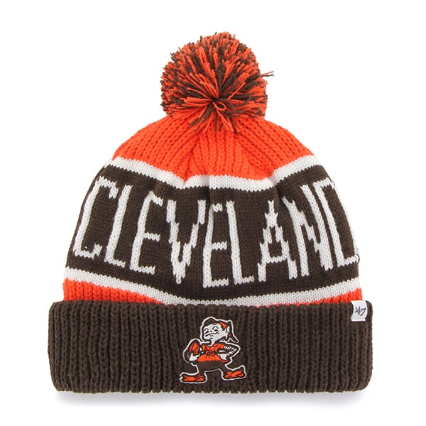 Cleveland Browns Calgary Cuff Knit Orange 47 Brand Hat