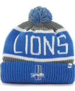 Detroit Lions Calgary Cuff Knit Gray 47 Brand Hat