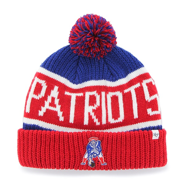 Patriots Calgary Cuff Knit Royal 47 Brand Hat