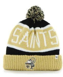 New Orleans Saints Calgary Cuff Knit Black 47 Brand Hat