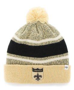 New Orleans Saints Fairfax Cuff Knit Light Gold 47 Brand Hat