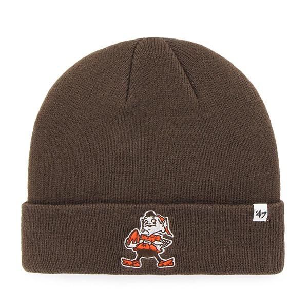 Cleveland Browns Cuff Knit Brown 47 Brand Hat