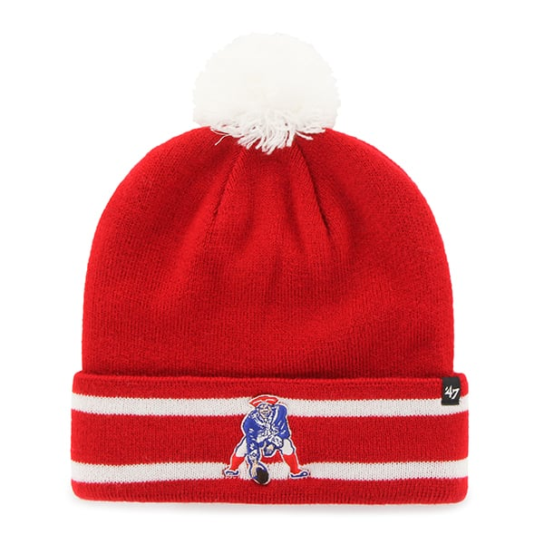 New England Patriots Lateral Cuff Knit Red 47 Brand Hat
