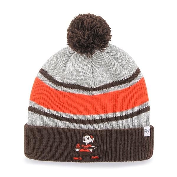Cleveland Browns Palmer Cuff Knit Gray 47 Brand Hat