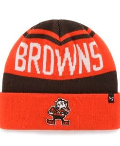 Cleveland Browns Rift Cuff Knit Brown 47 Brand Hat 426b52f6d