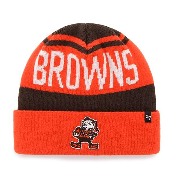 Cleveland Browns Rift Cuff Knit Brown 47 Brand Hat