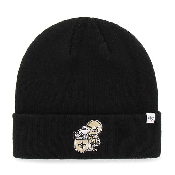 New Orleans Saints Raised Cuff Knit Black 47 Brand Hat