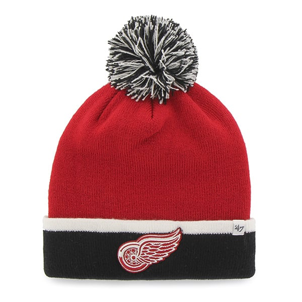 Detroit Red Wings Baraka Two Tone Cuff Knit Red 47 Brand Hat
