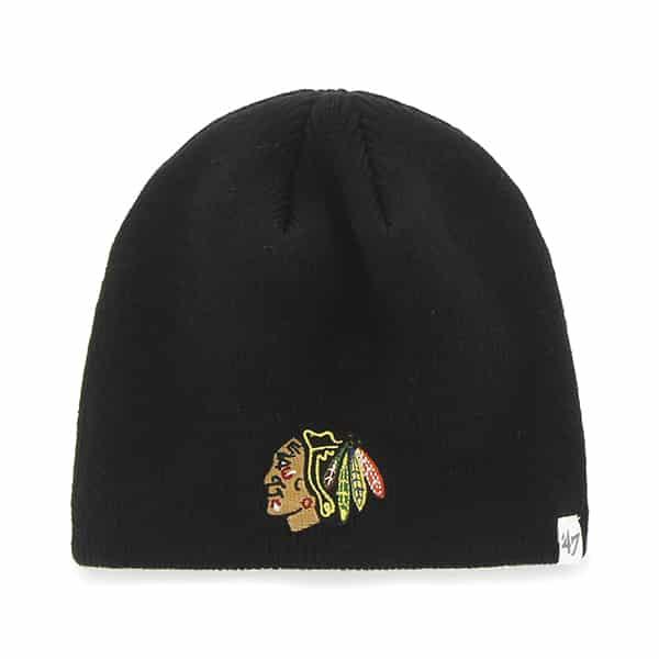 Chicago Blackhawks Beanie Black 47 Brand Hat