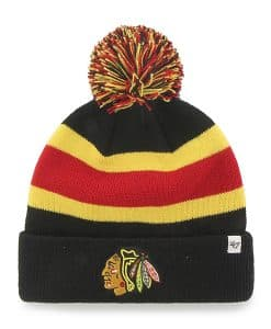 Chicago Blackhawks Breakaway Cuff Knit Black 47 Brand Hat