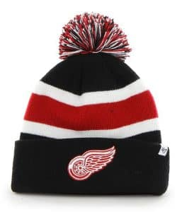 Detroit Red Wings Breakaway Cuff Knit Black 47 Brand Hat