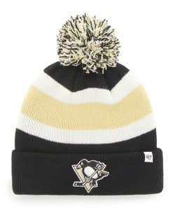 Pittsburgh Penguins Breakaway Cuff Knit Black 47 Brand Hat