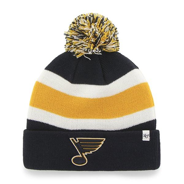 St Louis Blues Breakaway Cuff Knit Navy 47 Brand Hat