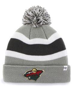 Minnesota Wild Breakaway Cuff Knit Gray 47 Brand Hat