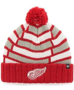 Detroit Red Wings Breakout Cuff Knit Red 47 Brand Hat