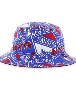 New York Rangers Bravado Bucket White 47 Brand Hat
