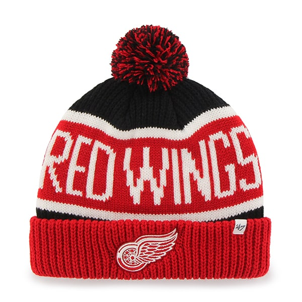 Detroit Red Wings Calgary Cuff Knit Black 47 Brand Hat
