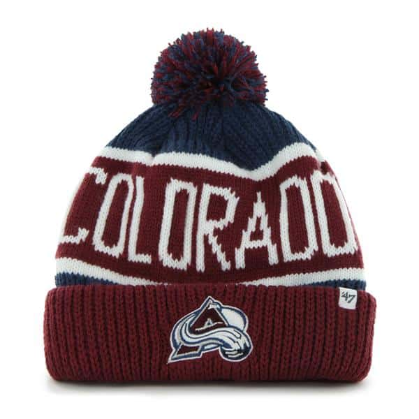 Colorado Avalanche Calgary Cuff Knit Timber Blue 47 Brand Hat