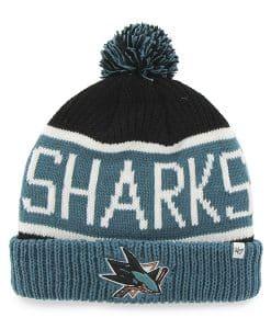 San Jose Sharks Calgary Cuff Knit Black 47 Brand Hat