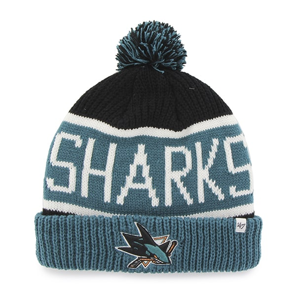 San Jose Sharks Calgary Cuff Knit Black 47 Brand Hat