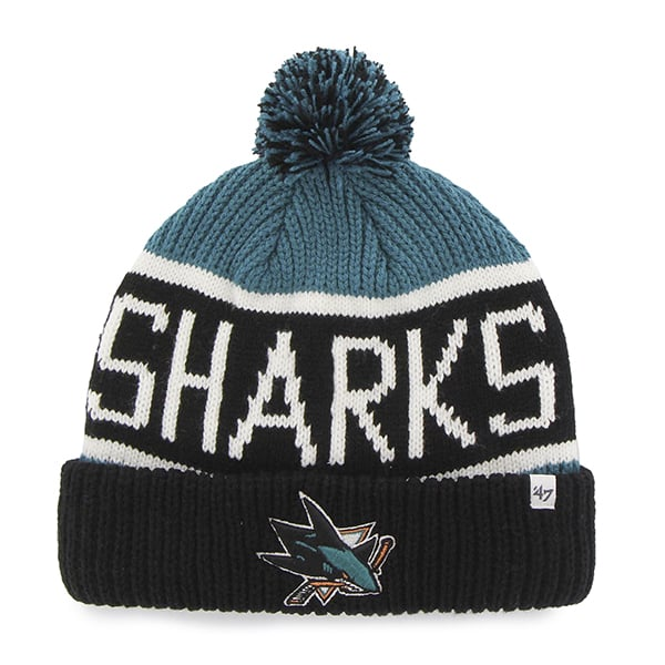 San Jose Sharks Calgary Cuff Knit Dark Teal 47 Brand Hat