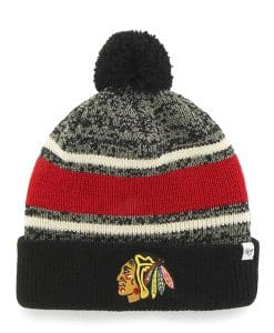 Chicago Blackhawks Fairfax Cuff Knit Black 47 Brand Hat