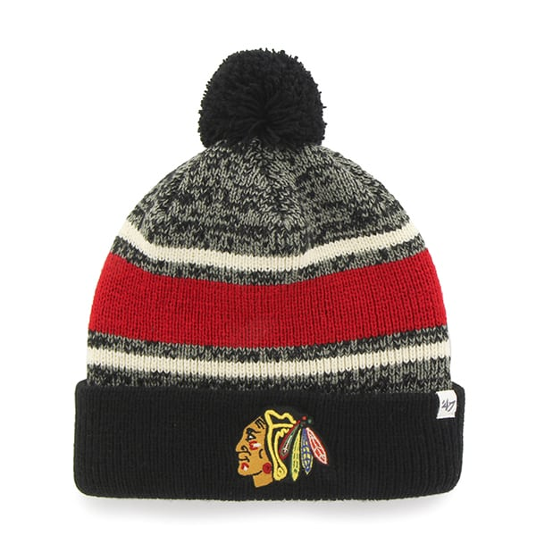 Chicago Blackhawks Fairfax Cuff Knit Black 47 Brand Hat