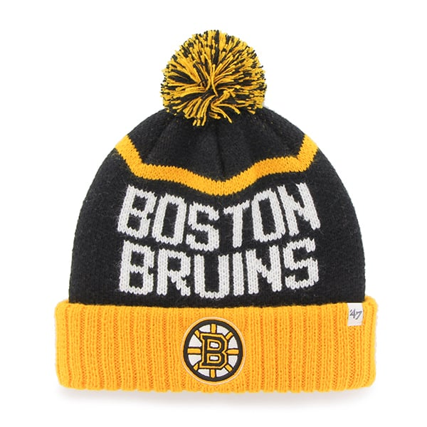 Boston Bruins Linesman Cuff Knit Black 47 Brand Hat